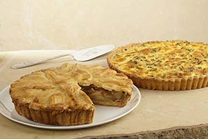 Quiche & Pie de Manzana